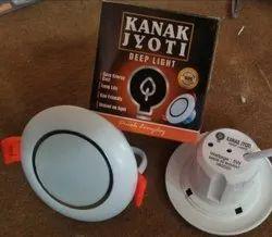 Kanak Jyoti Cool White 5 W Deep Round LED Light, For Indoor