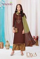 Ladies Rayon Printed Palazzo Suit