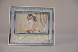 Glass White ADS Crystal Photo Frame, For Decoration, Size: 6inx8in