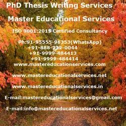 PhD Thesis Writing Services