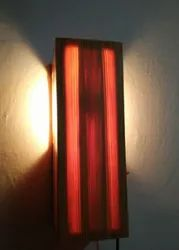 LED Warm White Wall Bedside Wooden Lamp