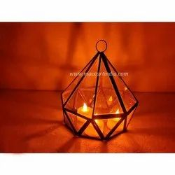 Maccart India Black Gold Plated Terrariums T Light Decoration For Outdoor And Indoor