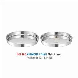 Stainless Steel Beeded Khomcha thali set