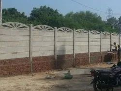 Folding Concrete Ready Made Boundary Compound Wall, Thickness: 3inch 4 Inch
