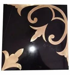 Black Design Marble Tiles, For Wall, Thickness: 17 mm