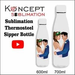 Sublimation Thermosteel Hot And Cold Sipper Bottle