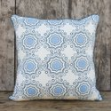 Lime Floral Hand Block Cushion Cover
