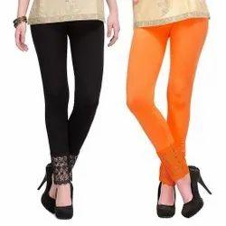 Eon Exports Cotton Ladies Lace Leggings