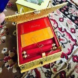 Recycled Handmade Paper Flap Box Wedding Invite