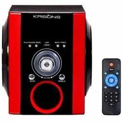 Red And Black 1.0 Krisons High Base Multimedia USB Speaker