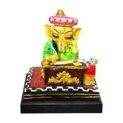Cleark / Muneem/ Lord Ganesha Polyresin Statue