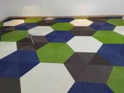 Commercial Building PVC Carpet Flooring Service, For Outdoor, Waterproof