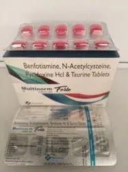 Multinorm Forte (Benfotiamine, N-Acetylcysteine, Pyridoxine & Taurine)