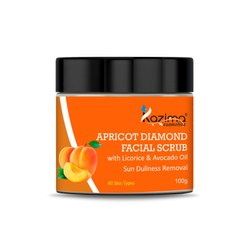 Kazima Apricot Diamond Facial Scrub, For Personal,Parlor, Packaging Size: 100 Gram