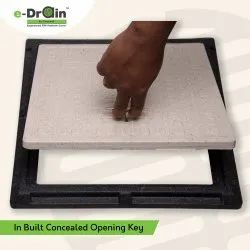 FRP Manhole Cover With In Built Concealed Opening Key