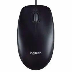 Logitech M90 Wired USB Mouse, 1000 DPI Optical Tracking, Ambidextrous Pcmaclaptop - Black