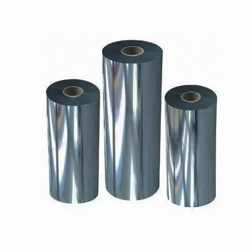 8 micron silver Metallized BOPP film for paper plate