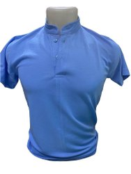 Amatives Cotton Plain Blue T Shirt, Size: Large