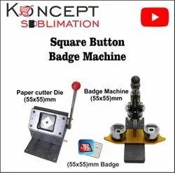 Square Button Badge Machine
