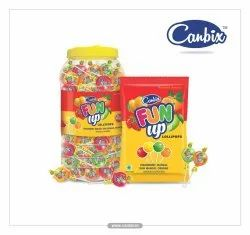 Canbix Fun Up Lollipops - Strawberry, Mango, Raw Mango & Orange