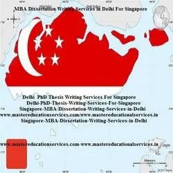 Singapore Dissertation Writing Services in India