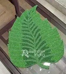 Leaf Design Beaded Placemats