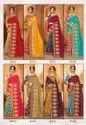 Party Wear Jacquard  Embroidery Sarees