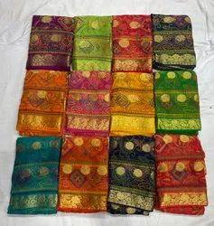 Party Wear Bandhani Printed Saree, Chiffon, 6 M