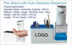 Pen Stand with Auto Sanitizer Dispenser