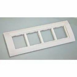 Finish: Base White Modular Plates, For Home, Module Size: 2 Module