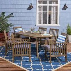 Outdoor Wooden Patio Dining Set