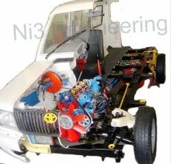 Cut Section Model Of Car Chassis