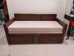 Custom Modern Wooden Sofa Cum Bed, For Home, 50kg