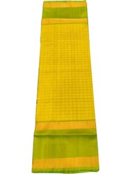 Plain Party Wear Yellow Uppada Silk Saree, 6.3 m (with blouse piece)