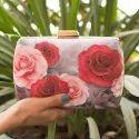 Designer Floral Printed Clutch