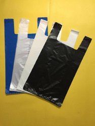 Plain U Cut Plastic Carry Bag, Holding Capacity: 5 Kg