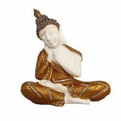 Golden White  Polyresin Buddha Statue