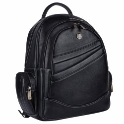 Hammonds Flycatcher Genuine Leather Black 15.6 Inch Laptop Backpack Bck120blk