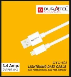 White DTC-602 Duratel Micro USB Data Cable