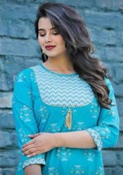 Sky Blue  Cotton Fabric Top