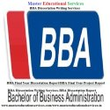 MBA Dissertation Writing Services In India