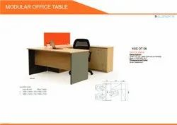 Pre Lam Particle Board Office Manager Table Ot-08, Size: 1350mm x 750m x 1050mm