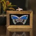 Hand Embroidery Wooden Clutch