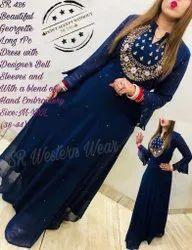 Designer Kurti Dress With Bell Sleeves