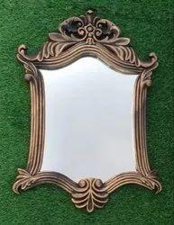装饰镜21 X 14英寸古董棕色PVC浴室,客厅镜子别致独特