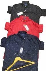 Cotton Collar Neck Men Full Sleeve Printed Shirt