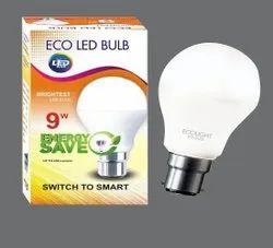 Round Cool daylight 9W Ecolight Ceramic LED Bulb