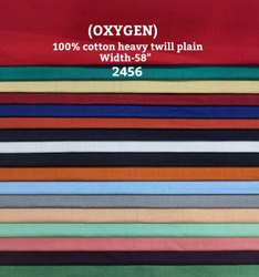 Oxygen 100% Cotton Heavy Twill Plain Shirting Fabric