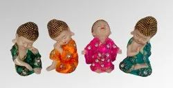 Buddha Beautiful Polyresin Monks, For Interior Decor, Size/Dimension: 6 Inch