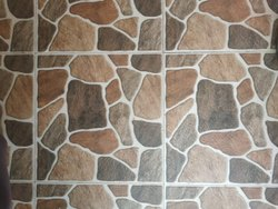 Gloss Stone Ceramic Floor Tile, Thickness: 10 mm, Size: 2x2 Feet